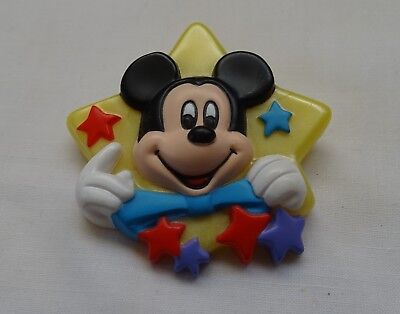 DISNEY 1989 MICKEY MOUSE BIG STAR & LITTLE STARS BROOCH PIN by Avon