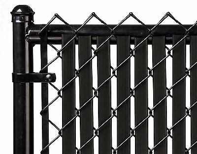 Chain Link Black Double Wall Tube™ Privacy Slat For 8ft High Fence Bottom Lock Black Chain Link Fence