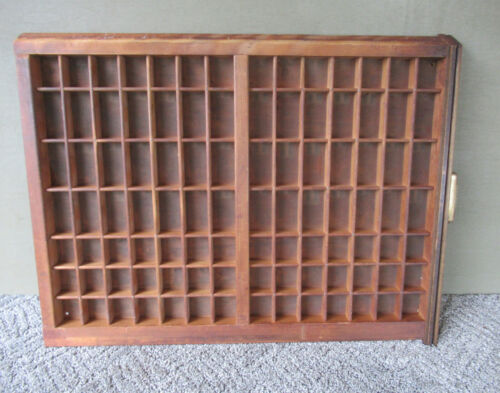 Antique Type Tray Primitive LUDLOW Printers