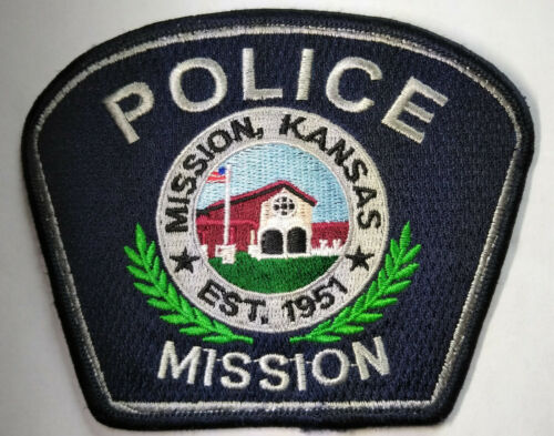 Mission Kansas Police Patch (USED) - Old & Obsolete Style // FREE US SHIPPING!