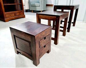 3 Piece Walnut Nesting Side Tables