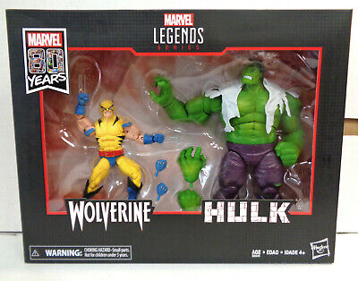 Marvel Legends: Wolverine & Hulk 2-Pack (2019) Hasbro New 80th Anniversary