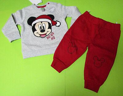 Disney Baby Weihnachts-Outfit MICKY MAUS 2 teilig GR.56 NEU mit Etikett