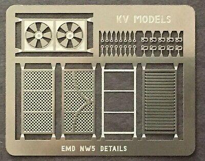 Detail Set Ho Scale (ETCHED DETAIL SET FOR EMD NW5 HO SCALE KV MODELS)