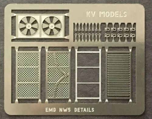 ETCHED DETAIL SET FOR NW5 HO SCALE KV MODELS KV-143H