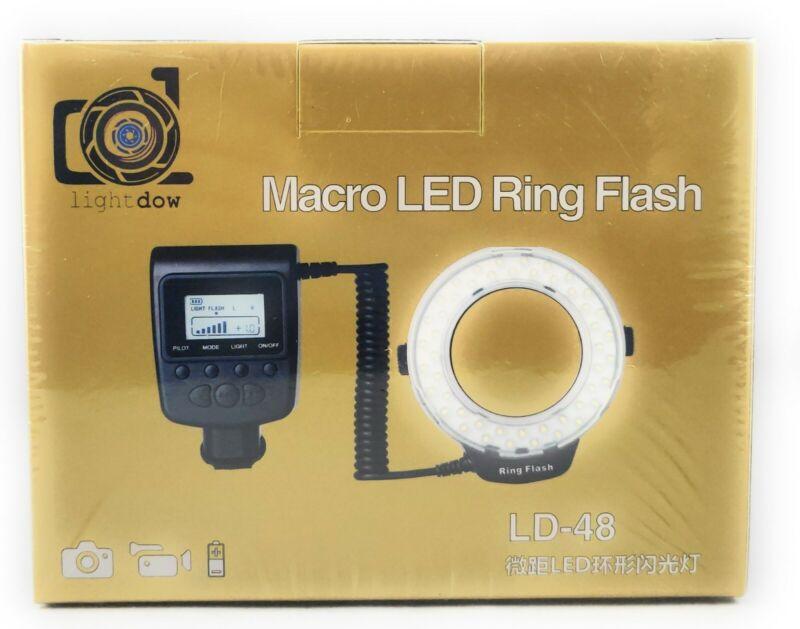 Lightdow 48 Pieces Macro LED Ring Flash Light with LCD Screen Display NIB SEALED