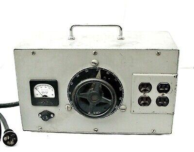 Vintage General Radio 100-91a Variac Variable Autotransformer Wtriplett Gauge