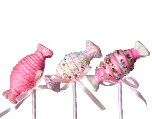 """8"""" SMALL LOLLIPOP CANDY FLORAL PICKS 