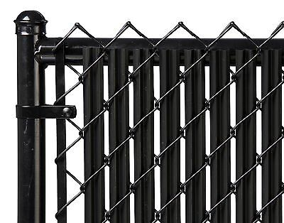 Chain Link Black Single Wall Ridged™ Privacy Slat For 5ft...