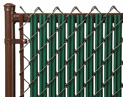 Chain Link Green Single Wall Ridged Privacy ...