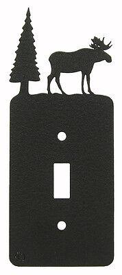 Moose & Tree Single Switch Plate Black Moose Single Switchplate