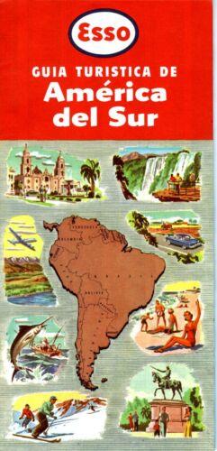 1957 Esso Road Map: South America NOS