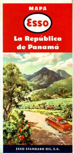 1957 Esso Road Map: Panama NOS