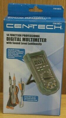 14 Function Prof. Digital Multimeter With Sound Level And Luminosity Cen-tech