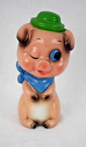 Vintage Pink Winking Pig Piggy Bank Japan