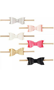 Pretty Leather bow baby hair headbands - one size fits all! Wembley Downs Stirling Area Preview