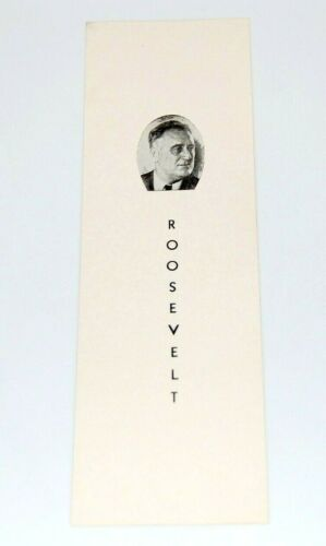 1940 FRANKLIN D. ROOSEVELT FDR BOOKMARK campaign pin pinback button WILLKIE