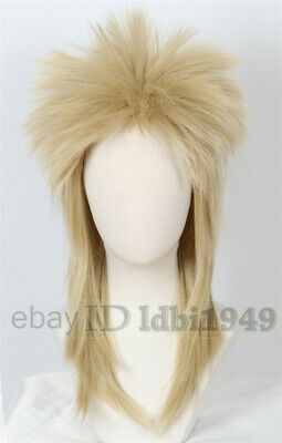 David Bowie Wig 80s Mullet Disco Rock Retro Cosplay Heavy Metal Fancy Dress - David Bowie Wigs