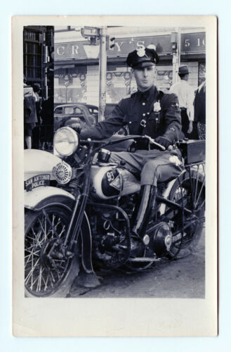1930s - 40s San Antonio Texas Motorcycle Police Officer Real Photo Post Card