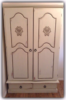 Upcycled solid timber wardrobe