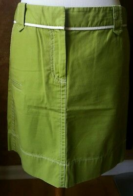 Ann Taylor  cotton kiwi color straight above the knee skirt,  -