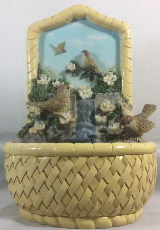 """2007 Hour Of Power Sparrows Club 3D Bird Bath Fountain 9"""" X 6.5"""" Wall Table Top"""