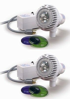 NEW Pentair AquaLuminator Above Ground Pool Lights with 2 Color Lens (2-pack)