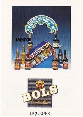 1991 magazine ad BOLS liqueur alcohol advertisement print blue red curacao etc ()