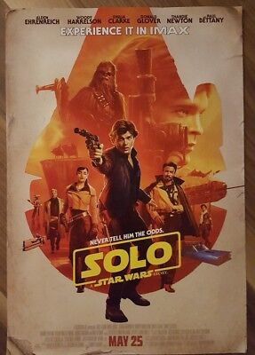 "SOLO: A STAR WARS STORY Official Movie 13"" x 19"" PREMIERE NIGHT IMAX Poster"