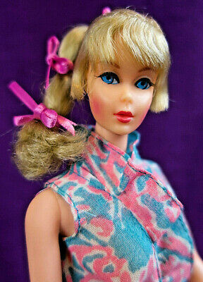 NM Mod Era Vintage Lt Blonde Side Ponytail TNT Barbie Orig. S/S Top No Grn BIN!