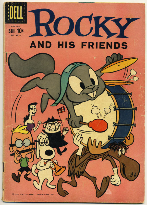 FOUR COLOR #1128 G, Rocky #1 and Bullwinkle, Dell Comics 1960