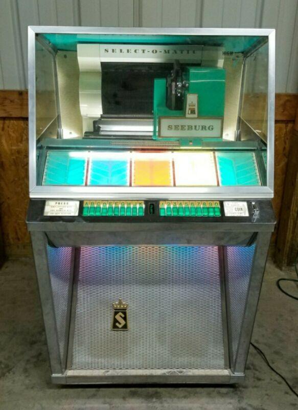 VINTAGE MID CENTURY JUKEBOX 1957 SEEBURG SELECT O MATIC Model L-100 Needs Repair