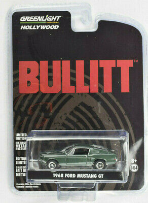 1968 Ford Mustang GT Fastback /& Bullitt McQueen Figur 1:64 GreenLight 51207