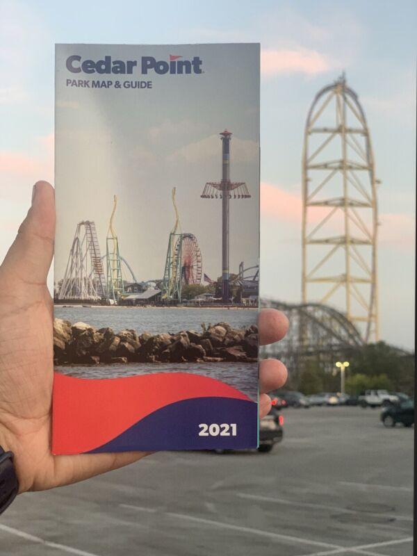 CEDAR POINT 2021 Amusement Park Map (150th Anniversary)