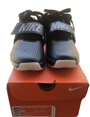 Nike Team Hustle Kid's Youth Mid Top Basketball Shoes Size 3Y