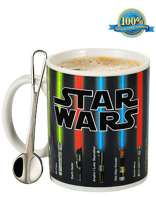 Star Wars Mug Lightsabers Appear With Heat+Free Coffee Spoon+Gift Packing Box