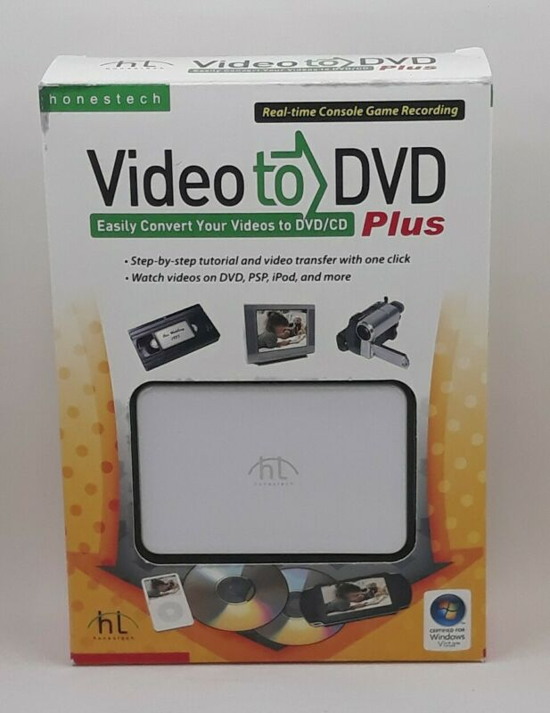 Honestech VHS to DVD Plus Converter USB for Windows Old School