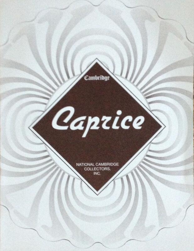 BOOK - - Cambridge CAPRICE