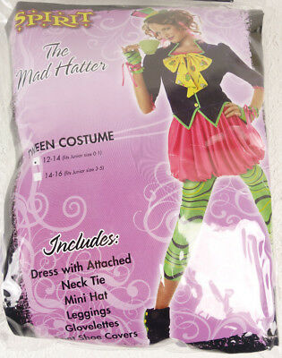 Junior Teen Girls The Mad Hatter Halloween Costume Tween](Mad Hatter Halloween Costume For Girls)