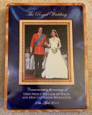 Walkers shortbread Royal Wedding 2011 commemorative tin William and Kate for sale  Spring