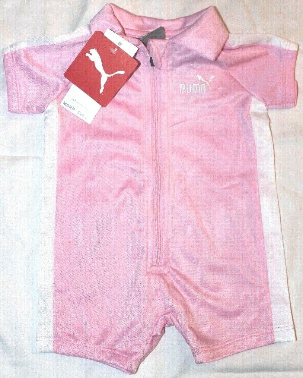 Baby Girls 0-3M or 3-6M PUMA Romper 1 pc Summer outfit Pink