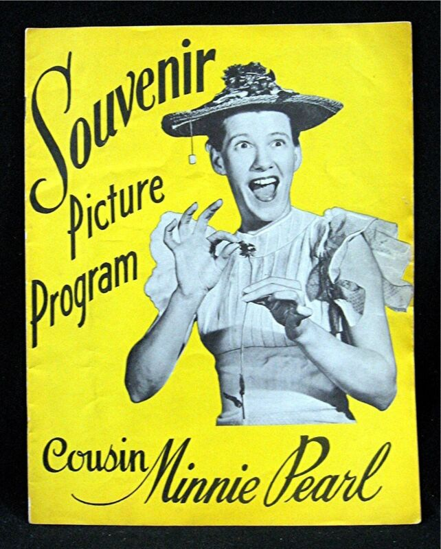 Old Cousin Minnie Pearl Souvenir Picture Program George Jones Brenda Lee