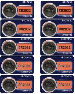 10 NEW  Fresh SONY CR2032 DL2032 ECR2032 CMOS Lithium 3V Watch Battery Exp 2027