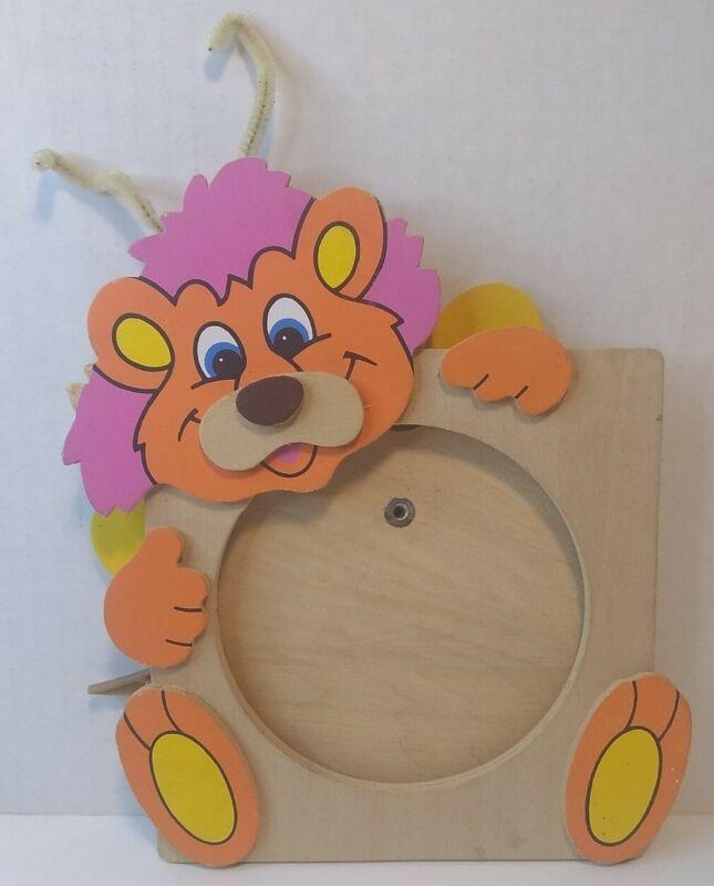 Vintage Wuzzles Wooden Picture Frame Bumblelion Disney Hasbro Applause 1985 VTG