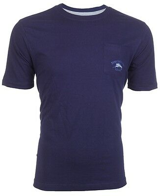Tommy Bahama Mens T Shirt Bali High Tide Pocket Relax Navy Embroidered M Xl  48