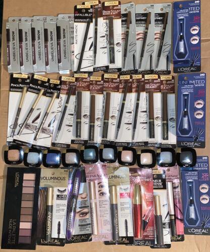 Lot Of 45 New Loreal Paris L Or al Makeup Eyeshadow Brow Stylist Mascara - $45.00