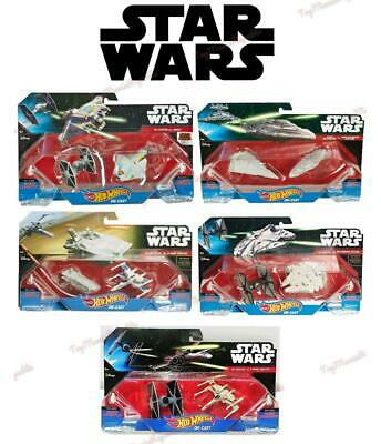 Lot of 5 - 2 Pack Starships Disney Star Wars Hot Wheels Destroyer Fighter - New