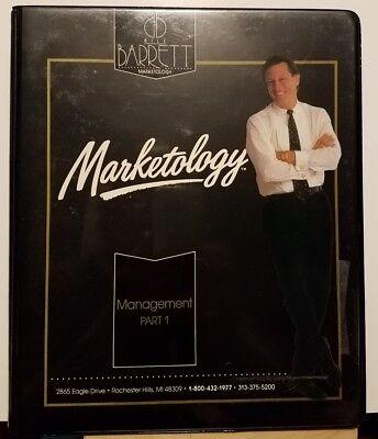 Pre Owned   Bill Barrett Marketology Management Part 1 And 2  12 Cassette  1990