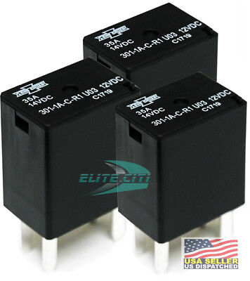 Song Chuan 301-1a-c-r1-u03 12vdc Micro 280 Spst 35a Relay Pack Of 3