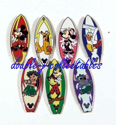 DLR Global Lanyard Series 3 Surfboards 7 Pin Disney Set